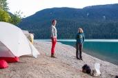 Beachfront camping
